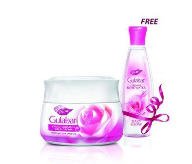 DABUR GULABARI MOISTURISING COLD CREAM - 55 ML PLUS ROSE WATER FREE