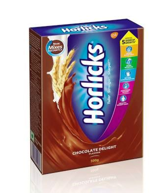 HORLICKS CHOCOLATE DELIGHT FLAVOUR - REFILL PACK - 500 GM