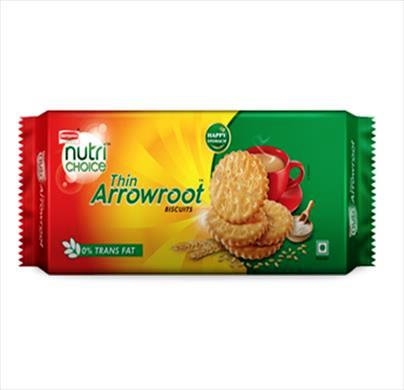 BRITANNIA NUTRI CHOICE THIN ARROWROOT BISCUITS - 400 GM