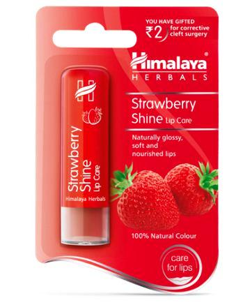 HIMALAYA STRAWBERRY SHINE LIP CARE - 4.5 GM