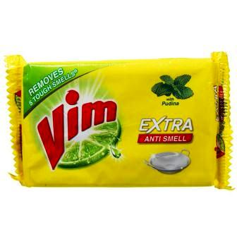 VIM EXTRA ANTI SMELL DISHWASH BAR (YELLOW) - 140 GM