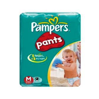 PAMPERS BABY PANTS DIAPERS MEDIUM - 2 PCS