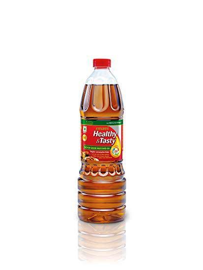 EMAMI HEALTHY & TASTY KACHI GHANI MUSTARD OIL BOTTLE - 500 ML