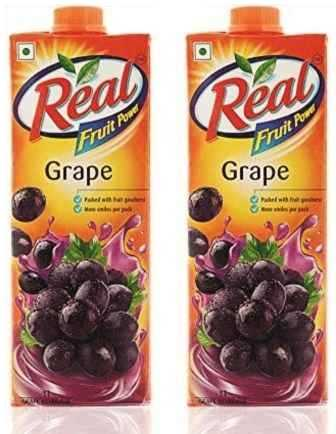 REAL FRUIT JUICE (GRAPE) COMBO - 1 LTR X 2