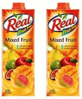 REAL FRUIT JUICE (MIXED FRUIT) COMBO - 1 LTR X 2