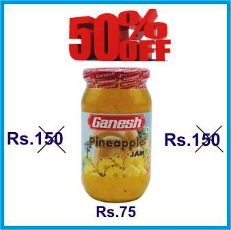 GANESH PINEAPPLE JAM OFFER - 500 GM GET 50 PERCENT OFF