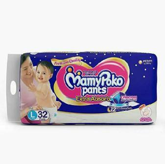 MAMY POKO PANTS DIAPERS EXTRA ABSORB  LARGE - 32 PCS