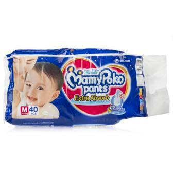 MAMY POKO PANTS DIAPERS EXTRA ABSORB MEDIUM - 40 PCS