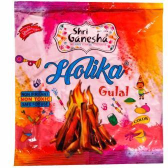 SRI GANESHA HOLIKA GULAL ABIR PINK - 80 GM