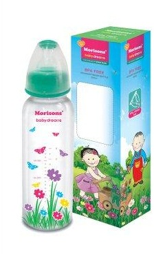 MORRISONS DESIGNER FEEDING BOTTLE - 250 ML