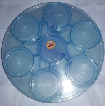 PLASTIC MASALA CONTAINER 7 CHAMBER