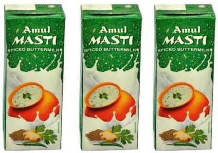 AMUL MASTI SPICED BUTTER MILK CHACH - 200 ML X 3