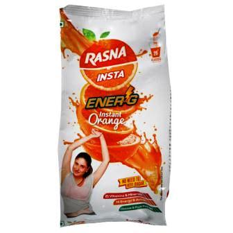RASNA INSTA ENER-G INSTANT ORANGE REFILL - 500 GM