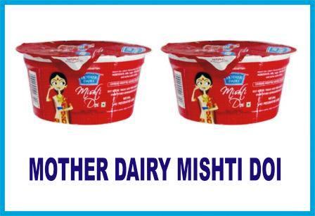 MOTHER DAIRY MISHTI DOI - DAHI - CURD - 85 GM X 2