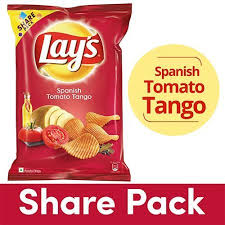 LAYS POTATO CHIPS SPANISH TOMATO TANGO - 90 GM