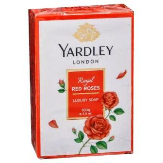 YARDLEY LONDON ROYAL RED ROSES LUXURY SOAP - 100 GM