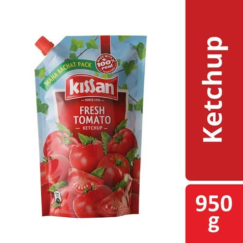 KISSAN FRESH TOMATO KETCHUP POUCH - 950 GM