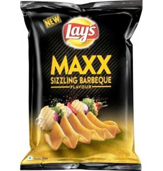 LAYS MAX SIZZLING BERBEQUE POTATO CHIPS - 58 GM