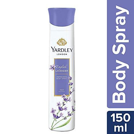 YARDLEY LONDON LAVENDER BODY SPRAY DEODORANT - 150ML
