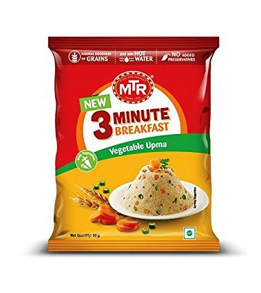 MTR 3 MIN VEGETABLE UPMA POUCH - 60 GM