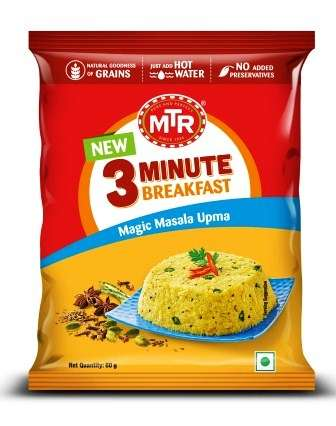 MTR 3 MIN MAGIC MASALA UPMA POUCH - 60 GM