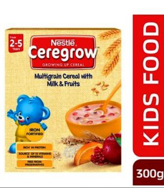 NESTLE CEREGROW (2-5 YRS) - MULTIGRAIN CEREAL WITH MILK & FRUITS - 300 GM