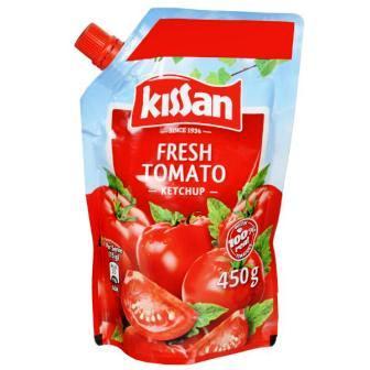 KISSAN FRESH TOMATO KETCHUP POUCH - 450 GM