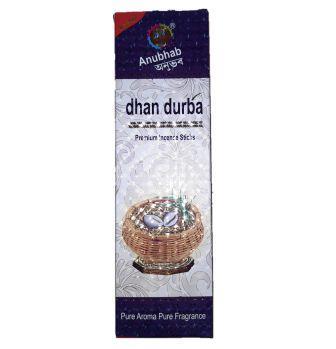 ANUBHAB DHAN DURBA DHUPKATHI AGARBATTI INCENSE STICKS (100 STICKS) - 1 PC