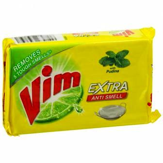 VIM EXTRA ANTI SMELL DISHWASH BAR (YELLOW) - 250 GM