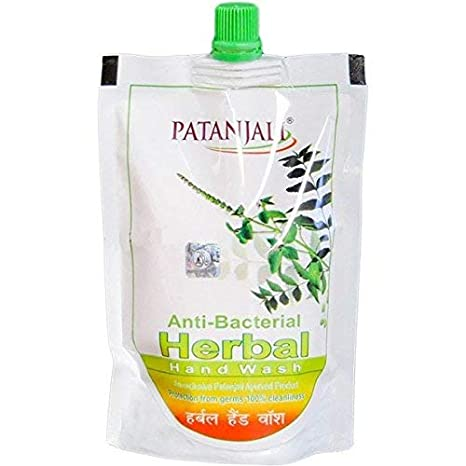 PATANJALI HERBAL ANTI BACTERIAL HAND WASH POUCH - 200 ML