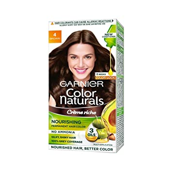 GARNIER COLOR NATURAL BROWN (NO. 4) - 35 ML PLUS 30 GM