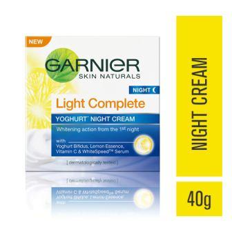 GARNIER LIGHT COMPLETE YOGHURT NIGHT CREAM - 40 GM