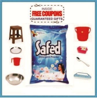 SAFED DETERGENT POWDER - 800 GM LUCKY COUPON INSIDE
