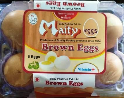 MAITY BROWN EGGS (MORE VITAMINS & MINERALS) - 6 PCS