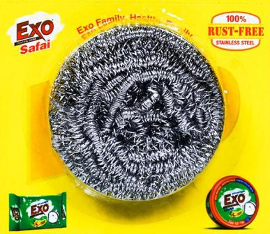 EXO STAINLESS STEEL SCRUBBER - 1 PC