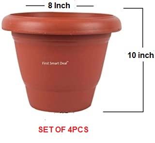 PLASTIC PLANT POT - 10 INCH DIAMETER - 4 PCS